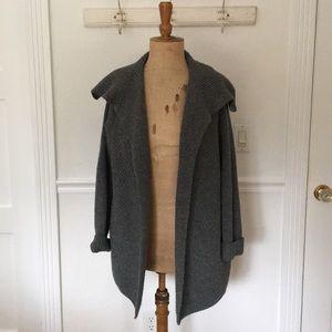 Vince Yak/Wool grey cardigan or sweater coat, sz M